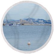 So Near And So Far Round Beach Towel