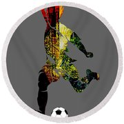 Soccer Collection Round Beach Towel