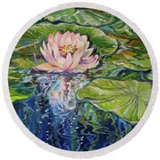 Solitude Waterlily Round Beach Towel