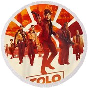 Solo A Star Wars Story Round Beach Towel