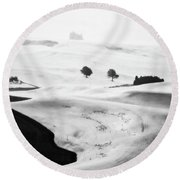 Somewhere In The Palouse Round Beach Towel