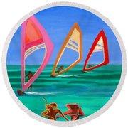Sons Of The Sun Round Beach Towel