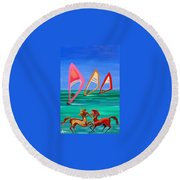 Sons Of The Sun Round Beach Towel