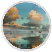 Sound Of Silence Round Beach Towel