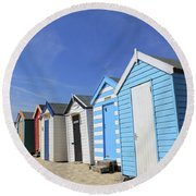 Southwold Beach Huts Round Beach Towel