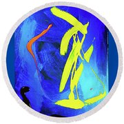 Round Beach Towel featuring the photograph Space Dance by Elf Evans