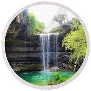 Spent The Day At Hamilton Pool. Yes Round Beach Towel