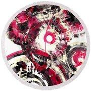 Round Beach Towel featuring the painting Sphere Series 1025.050412 by Kris Haas