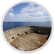 Spinalonga Round Beach Towel