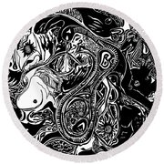 Spiritualbecoming Round Beach Towel