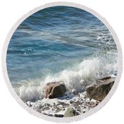 Splash Round Beach Towel by Judy Palkimas