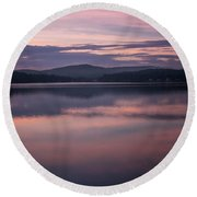 Spofford Lake Sunrise Round Beach Towel