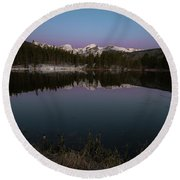 Sprague Lake Round Beach Towel