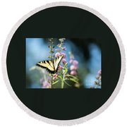 Round Beach Towel featuring the photograph Spread Your Wings by Judy Wolinsky