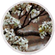 Spring Blossoms Round Beach Towel by Ann Powell
