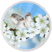 Round Beach Towel featuring the painting Spring Fever by Veronica Minozzi