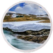 Spring Waters Round Beach Towel