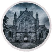 St Asaph Cathedral Round Beach Towel