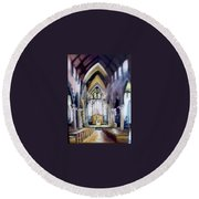 St Johns Cathedral Limerick Ireland Round Beach Towel