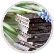 Stack Of Chocolate Round Beach Towel
