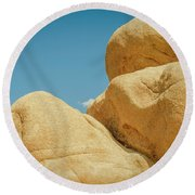Stacked Boulders Joshua Tree Round Beach Towel by Amyn Nasser