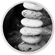 Stacked Pebbles Round Beach Towel