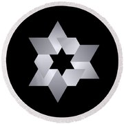 Star From Cubes Round Beach Towel