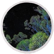 Stars Out Tonight Round Beach Towel by Nancy Marie Ricketts