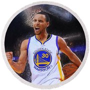 Stephen Curry Round Beach Towel