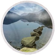 Stepping Stones Round Beach Towel by Ian Mitchell