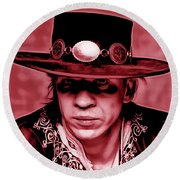 Stevie Ray Vaughan Collection Round Beach Towel