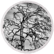 Still Standing - Black Edition Round Beach Towel