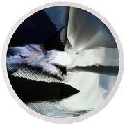 Storm Round Beach Towel by Elaine Hunter