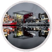 Stormy Night In Baltimore Round Beach Towel