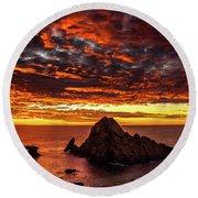 Sugarloaf Sunset Round Beach Towel
