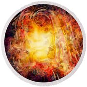 Round Beach Towel featuring the digital art Summertime Sadness by Jason Hanson