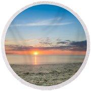 Sundown Round Beach Towel by Christopher L Thomley