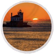 Setting Sun Round Beach Towel