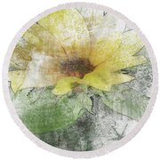 Sunflower Canvas Round Beach Towel