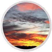 Sunrise Collection #4 Round Beach Towel