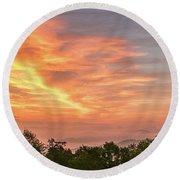 Sunrise July 22 2015 Round Beach Towel