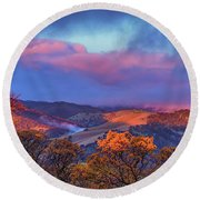Sunrise Light Round Beach Towel