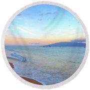 Sunrise On Kaanapali Round Beach Towel