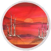Sunrise Round Beach Towel by Pat Purdy