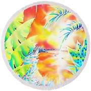 Sunset Cocktail Round Beach Towel