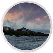 Sunset Emerald Isle Crystal Coast Round Beach Towel