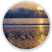 Round Beach Towel featuring the photograph A Costa Da Morte by Fabrizio Troiani