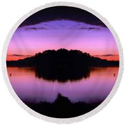 Sunset Kiss Round Beach Towel by Sue Stefanowicz
