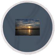 Sunset On The Bayou Round Beach Towel