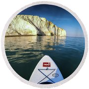 Round Beach Towel featuring the photograph Sup Pov by Will Gudgeon